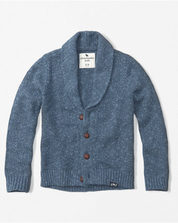 kids shawl collar cardigan
