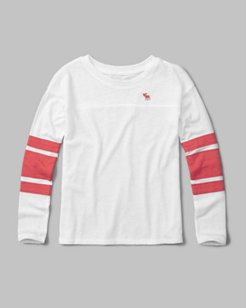kids long-sleeve football tee