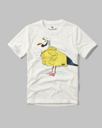 kids seafarer graphic tee