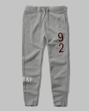kids zip logo graphic joggers