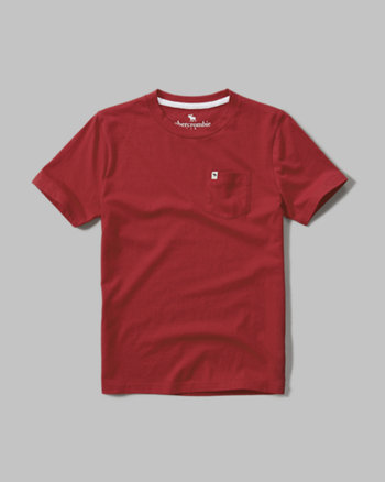 kids pocket crew tee