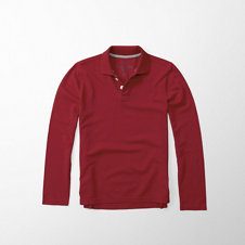 girls solid long sleeve polo