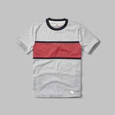 girls chest stripe tee