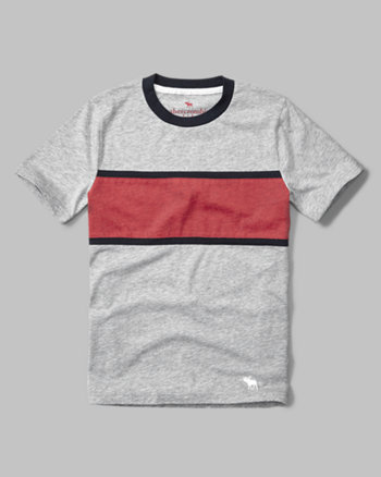 kids chest stripe tee