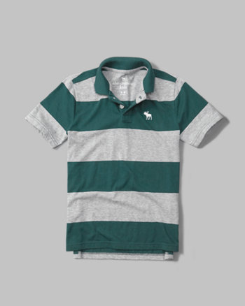 kids striped icon polo