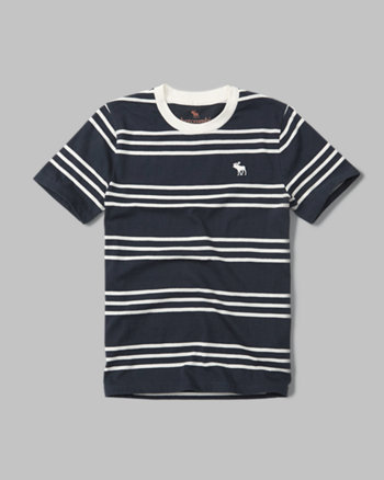 kids striped logo crew tee