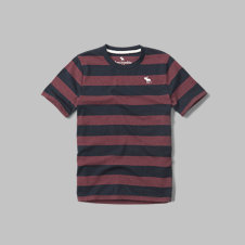 girls striped logo crew tee