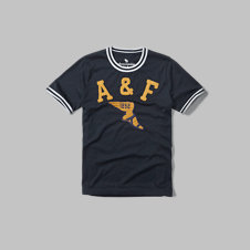 girls varsity tipped ringer graphic tee