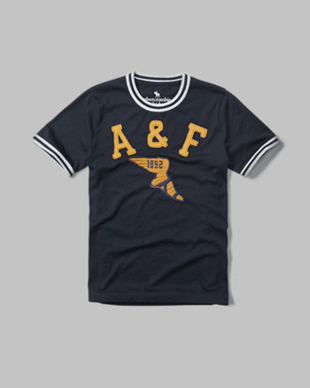 varsity tipped ringer graphic tee