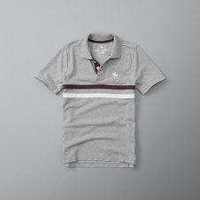 girls chest stripe logo polo