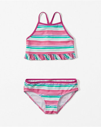 kids keyhole ruffle two-piece swimsuit