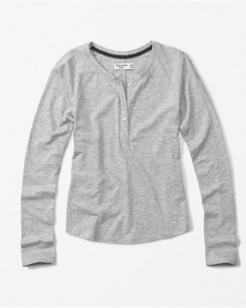 kids solid henley