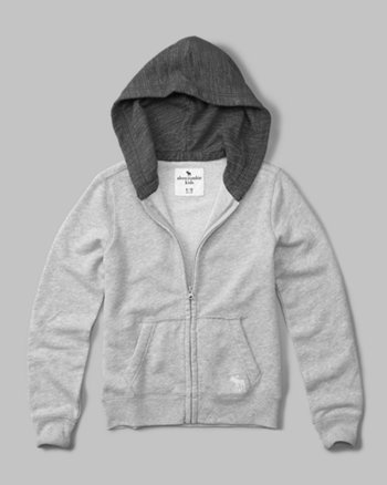 kids color block french terry full-zip