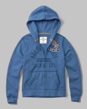kids logo zip-up