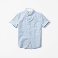 girls short sleeve solid oxford shirt