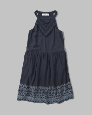 kids high neck skater dress
