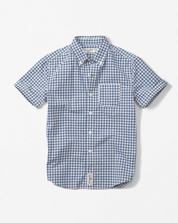 kids short-sleeve pattern poplin shirt