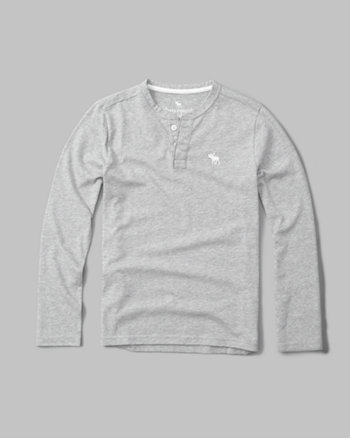 kids long-sleeve icon henley