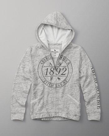 kids logo full-zip hoodie