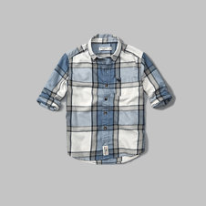 girls long sleeve plaid shirt
