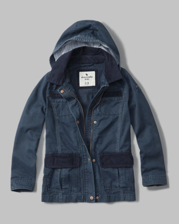 kids corduroy trim field jacket