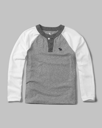 kids icon baseball henley