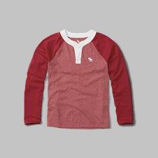 girls logo baseball henley