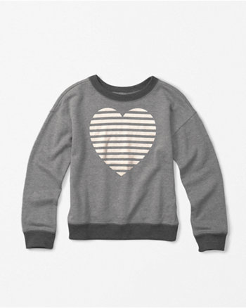 kids shine graphic crew neck sweatshirt
