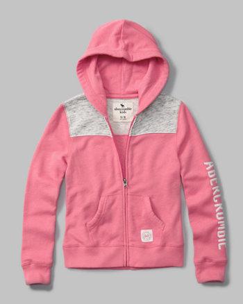 kids logo zip-up hoodie
