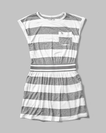 kids banded tee dress