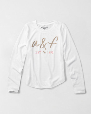kids long-sleeve shine graphic sleep top