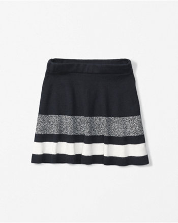 kids sweater-knit skater skirt
