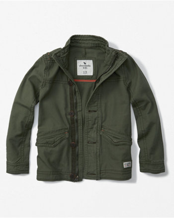 kids twill military jacket
