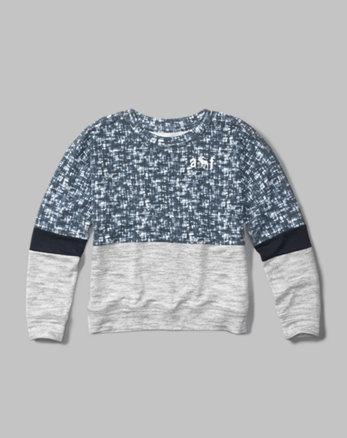 kids active crew neck sweatshirt