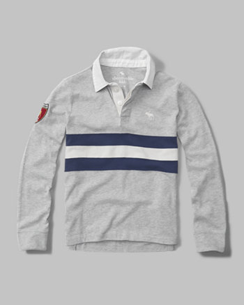 kids logo rugby polo