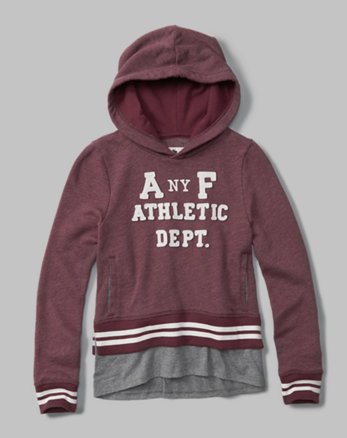 kids logo twofer pullover hoodie