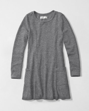 kids cozy skater dress