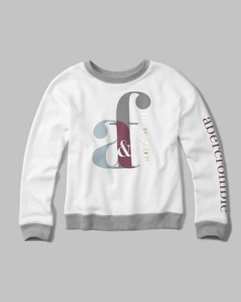 kids shine logo crew neck sweatshirt