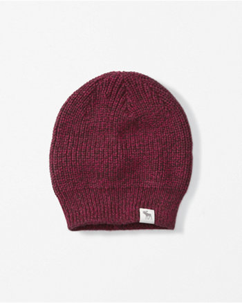 kids heathered knit beanie