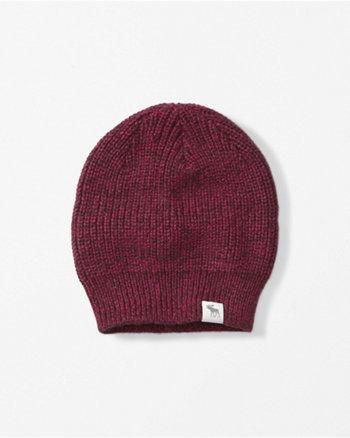 kids heathered knit beanie