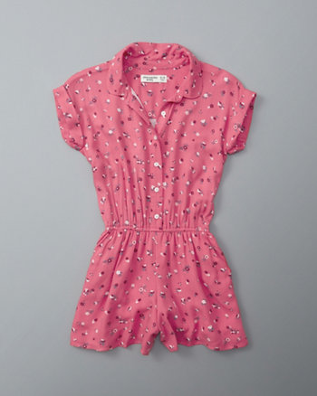 kids peter pan collar romper