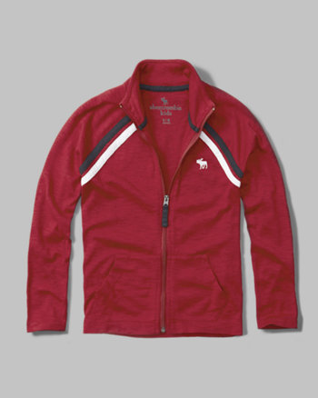 kids full-zip mock neck jacket
