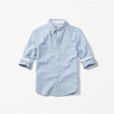 girls long sleeve solid oxford shirt