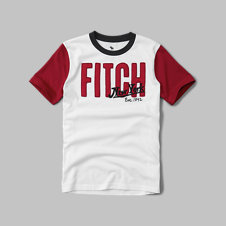 girls color block applique graphic tee