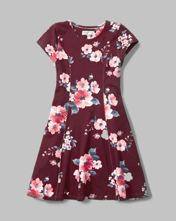 kids cap-sleeve skater dress