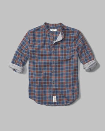 kids long sleeve plaid duofold shirt