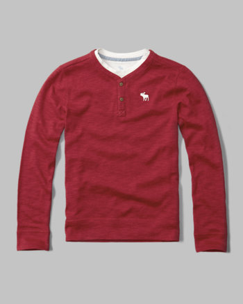 kids twofer logo henley