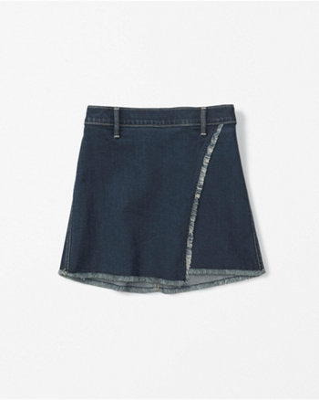 kids denim wrap skirt