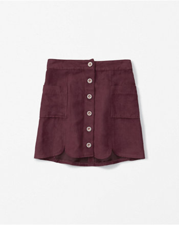 kids suede a-line skirt