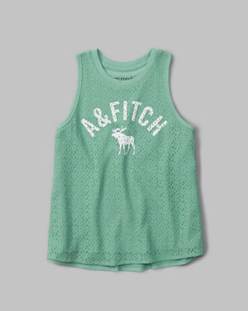 kids lace-front graphic tank